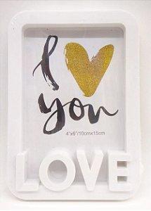 PORTA-RETRATO 'I ♥ YOU'