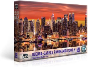 QUEBRA-CABEÇA PUZZLE PANORÂMICO 1500 PEÇAS SKYLINE DE MANHATTAN TOYSTER
