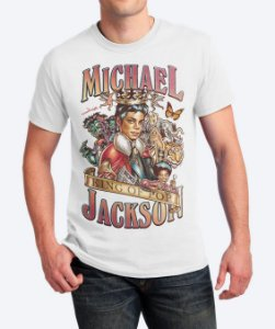 Camiseta King Of Pop - Michael Jackson