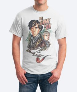 Camiseta The Game Is On - Sherlock