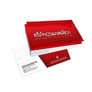 Cartão de Visita Supremo Metalizado 300G F/V Verniz Total Frente - 500 UN