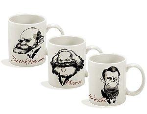 Canecas Série Sociólogos - Marx, Weber e Durkheim