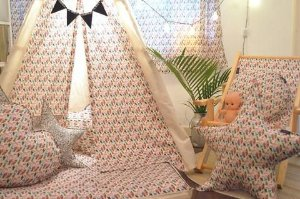 CABANA INFANTIL ESTAMPA TROPICAL