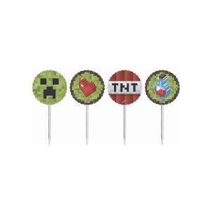 TOPPERS MINECRAFT (8 UNIDADES)