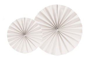 LEQUE BRANCO 25 cm (2 UNIDADES)