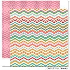 PAPEL SCRAP CHEVRON COLORS  (UNIDADE)