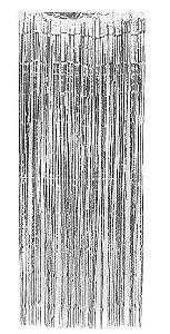 CORTINA DE FRANJAS METALIZADA PRATA (200 x 75 cm)