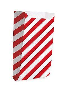 SAQUINHO DE PAPEL LISTRAS VERMELHO (50 UNIDADES)