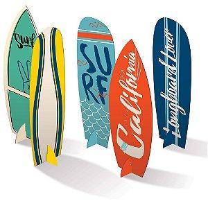 SILHUETAS DECORATIVAS SURF (5 UNIDADES)