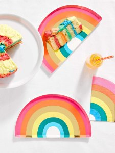 PRATO DE PAPEL RAINBOW TALKING TABLES (12 UNIDADES)