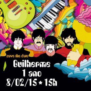 CONVITE VIRTUAL / SAVE THE DATE BEATLES
