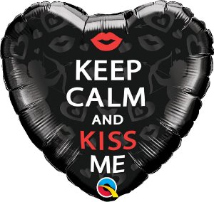 BALÃO KEEP CALM AND KISS ME (UNIDADE)
