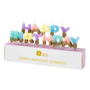 VELAS HAPPY BIRTHDAY CANDY & GOLD (13 UNIDADES)