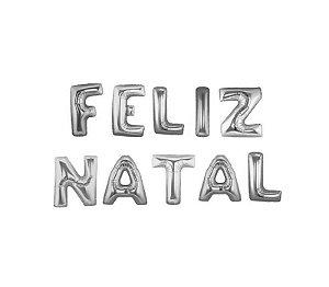 KIT DE BALÕES METALIZADOS FELIZ NATAL