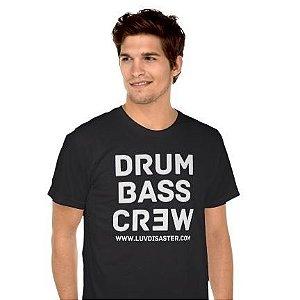 Camiseta Masculina Drum Bass Crew