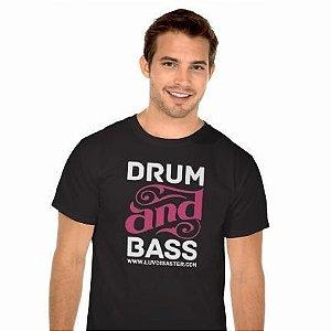 Camiseta Masculina Preta Drum and Bass