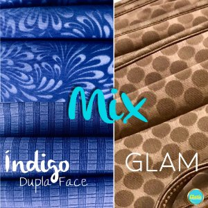 MIX - Dupla Face Índigo + Glam