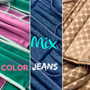 Mix - Color Dupla Face + Jeans + Glam