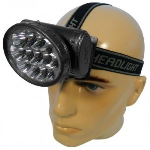 Lanterna de Cabeça Com 13 Leds e Bateria Recarregável de Longa Duração