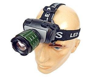 Lanterna Tática de Cabeça / Capacete Profissional 617.000 Lumens Zoom Ajustável Bateria Recarregável LED Q5