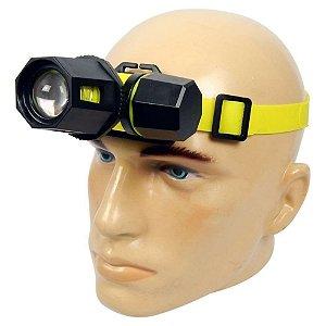 Lanterna de Cabeça Para Mergulho LED Q5 617.000 Lumens Com Ajuste de Zoom Super Potente À Prova D'Água