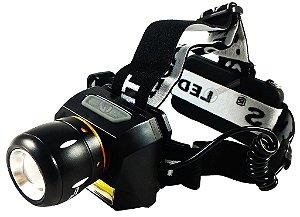 Lanterna de Cabeça Tática Profissional 1.100.000 Lumens Com Zoom LED T6, LED Auxiliar e Sinalizador