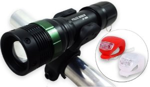Kit Lanterna Bike C/ Zoom + Sinalizador Traseiro 340.000 Lumens Compacta e Potente