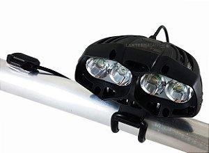 Lanterna Farol para Bicicleta Predator 4.420.000 lumens Com 4 LEDs T6 L2 e Controle Remoto