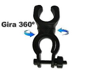 Suporte Profissional De Lanterna Tática Para Guidão de Bicicleta Gira 360 Bike