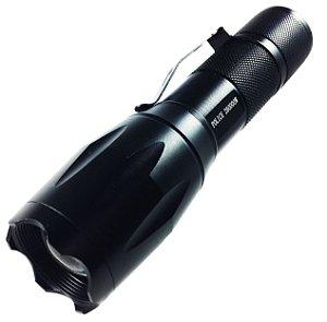 Lanterna Tatica 710.000 Lumens Police Compacta e Potente LED T6 Bateria Gold Recarregável