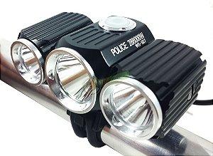 Lanterna Farol para Bike Bicicleta Com Regulagem Individual dos Leds 800.000 Lumens Suporte Potente