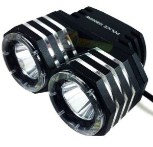Farol Para Bike Monster 2 Leds T6 L2 mais 24 Leds auxiliares 750.000 Lumens Super Potente