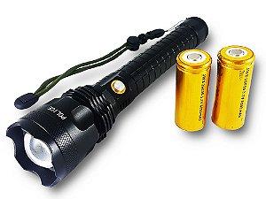 Lanterna Tática Storm II 6.200.000 Lumens LED XML T9 Super Potente 2 Baterias 26650