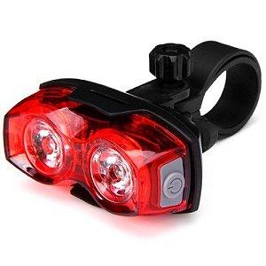 Sinalizador Duplo de LED Traseiro para Bicicleta Super Potente - Visto a 500m de Distância