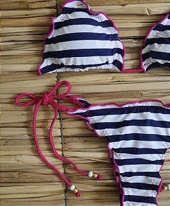 Biquini - Ripple - Listras costura Pink
