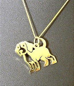 Colar Beagle - Banho ouro amarelo