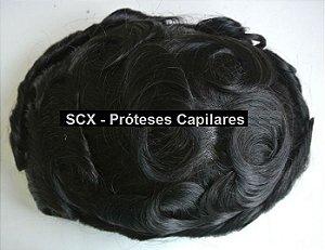 Prótese Capilar Micropele - Preto Natural