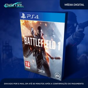 Battlefield 1 Ps4 Mídia Digital