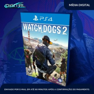 Watch Dogs 2 Ps4 Mídia Digital