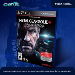 Metal Gear Solid V Ground Zeroes Ps3 Mídia Digital
