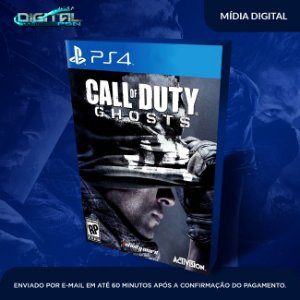 Call Of Duty Ghosts Ps4 Mídia Digital