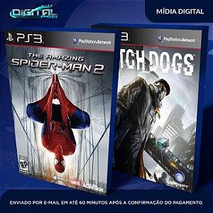The Amazing Spider-Man 2 + Watch Dogs Ps3 Mídia Digital