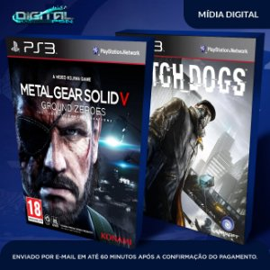 Metal Gear Solid V + Watch Dogs Ps3 Mídia Digital
