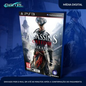 Assassin's Creed Liberation PS3 + Assassins freedon cry Game Digital