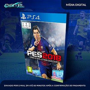 PES 2018 PS4 Mídia Digital