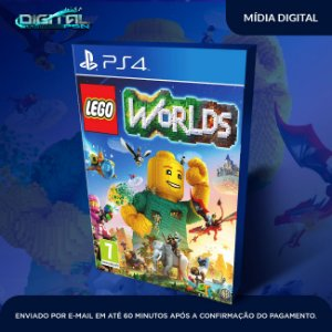 LEGO Worlds ps4  midia digital