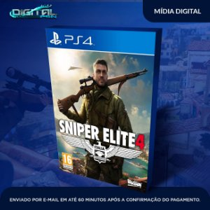 Sniper Elite 4 Ps4 Mídia Digital