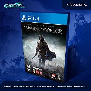 Middle Earth Shadow Of Mordor PS4 SOMBRAS DE MORDOR PS4 dUBLADO EM PT BR SISTEMA PRIMÁRIO