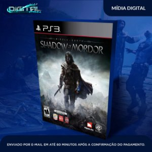 Middle Earth Shadow Of Mordor Ps3 Mídia Digital