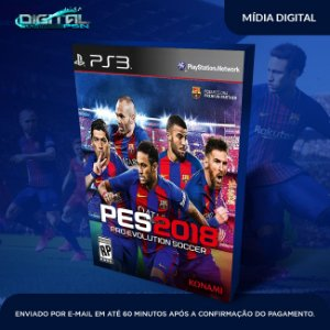Pro Evolution Soccer 2018 Ps3 Mídia Digital PES 2018